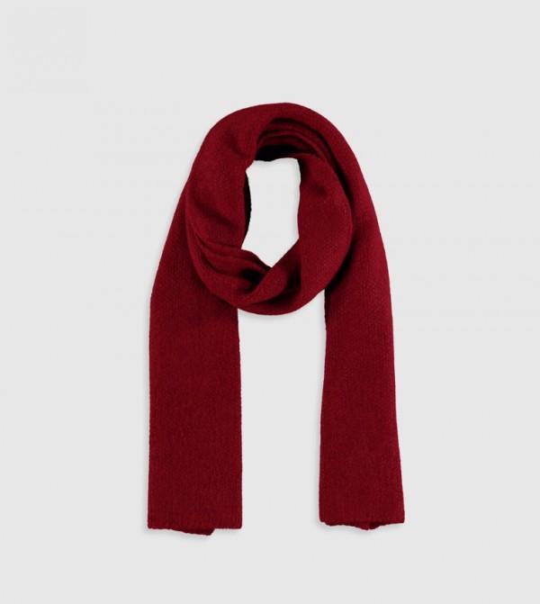 Knitwear Scarf-D.Red