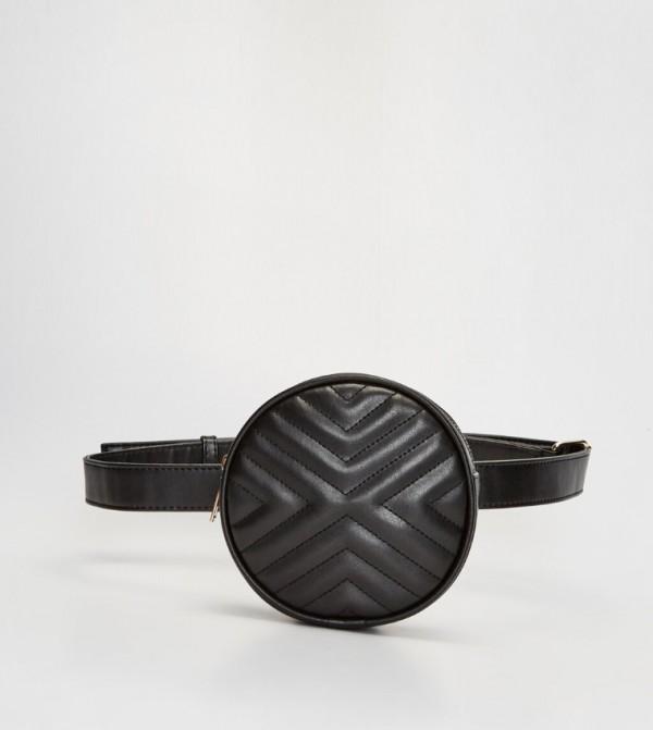 Black Leather Looking Bag-Black