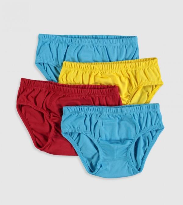طقم ملابس داخلية قطنية 4 قطع