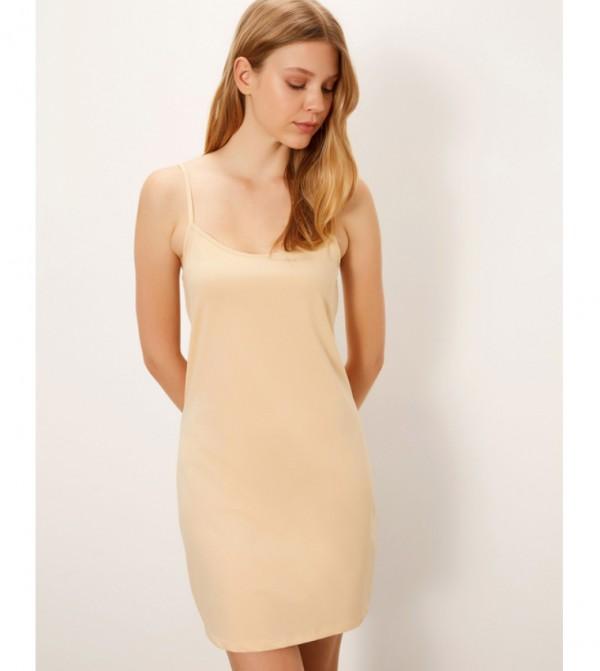 Hanging Corset Dress-Nude Pink