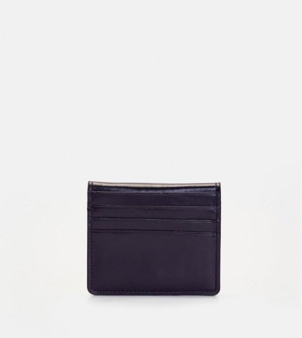 Leather Card Holder-Black
