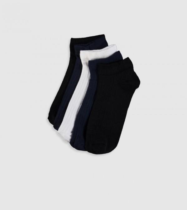 Booties Socks 5'S-Mix Yarn Dyed