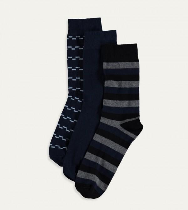 Socket Socks 3 Pieces-Mix