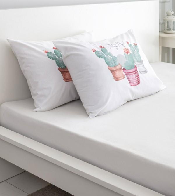 Pillow Case 2 Pcs-Mix Printed