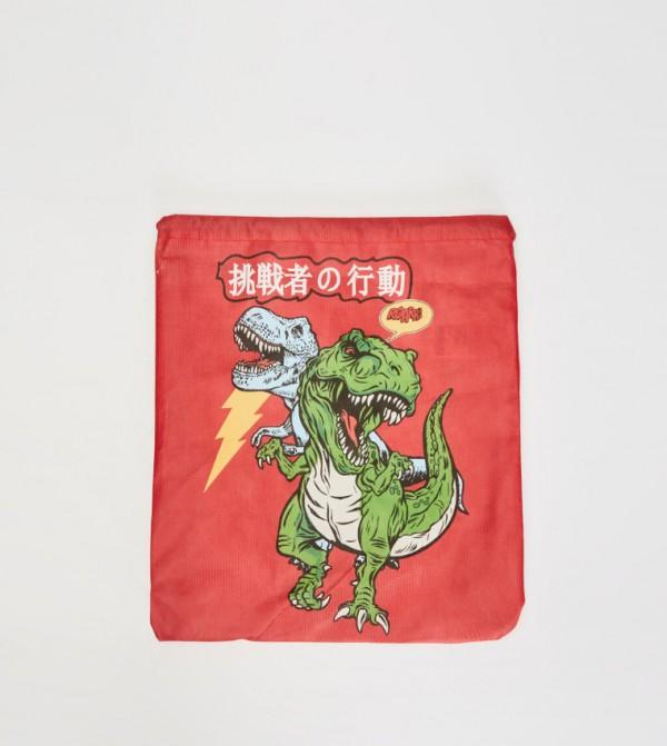 حقيبة قماشية بطبعة ديناصور
