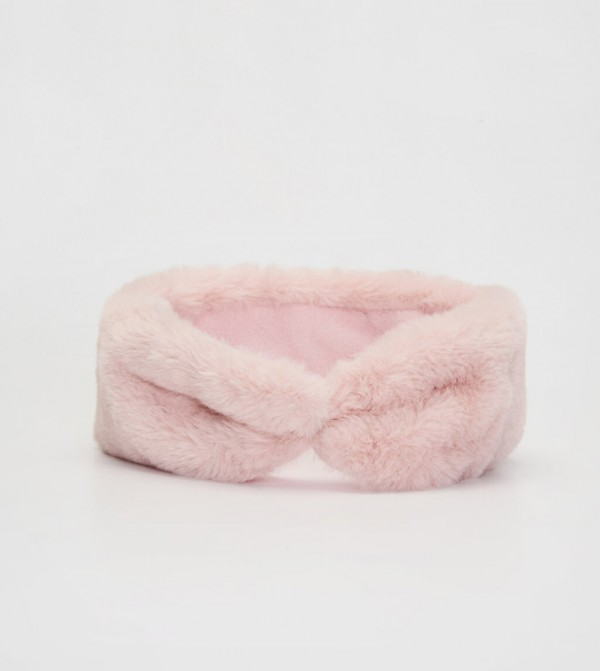 Plush Hair Band-Pink