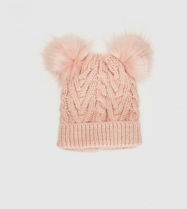 Pompom Beanie-Light Pink