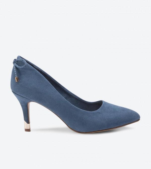 حذاء كعب عالي بلون أزرق