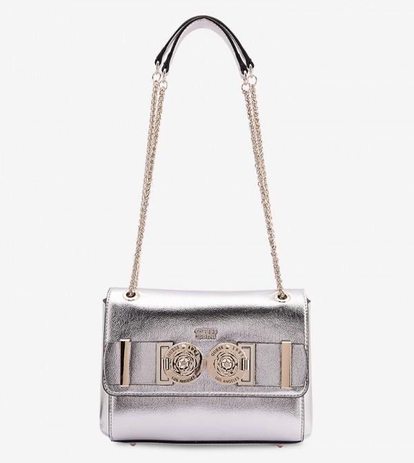 Carina Convertible Cross Body Flip Bag - Silver