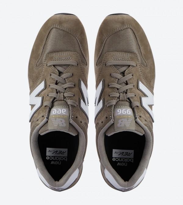 Calidad superior gran ajuste zapatos de otoño 996 RevLite Round Toe Lace-Up Sneakers - Green