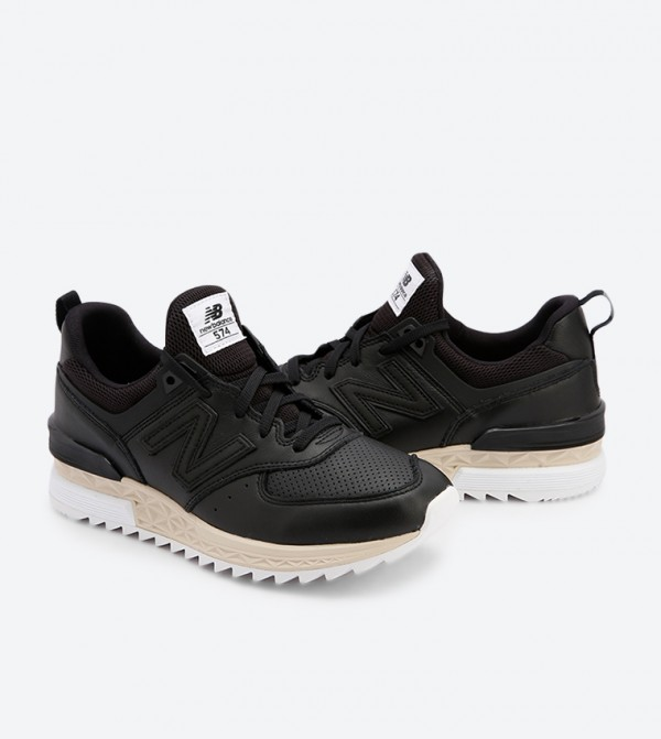 special discount of order online numerousinvariety 574 Round Toe Lace Up Closure Sneakers - Black MS574LSB
