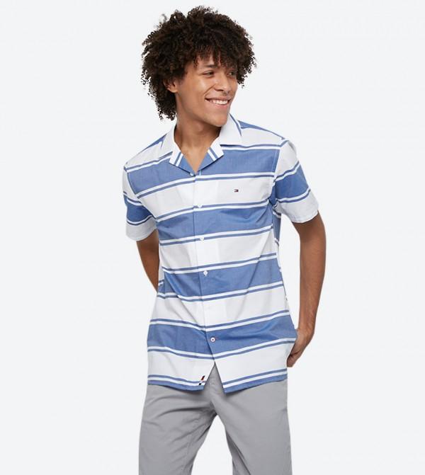 قميص مخطط بألوان متعددة