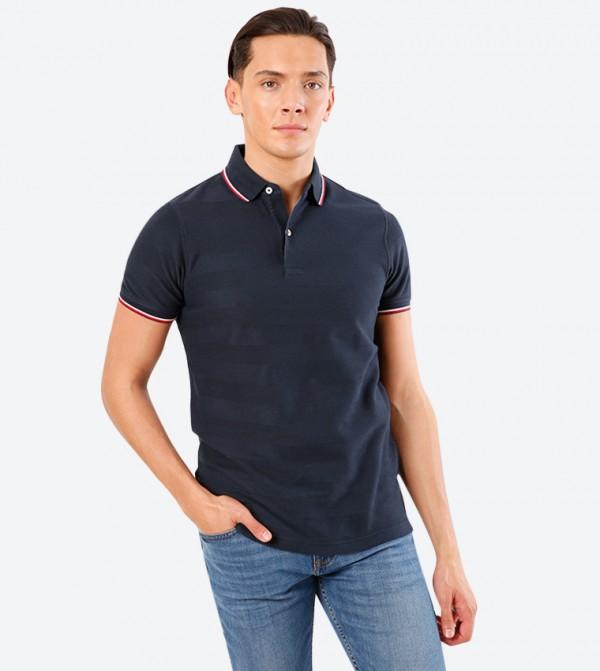 Short Sleeve Classic Collar Polo Shirt - Navy