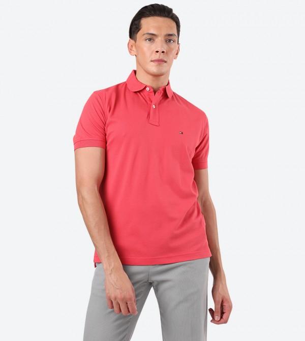 Tommy Regular Short Sleeve Classic Collar Polo Shirt - Orange