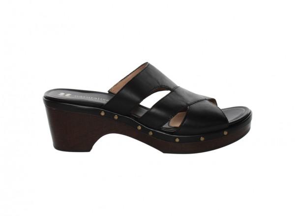 Galant Black Mid Heel