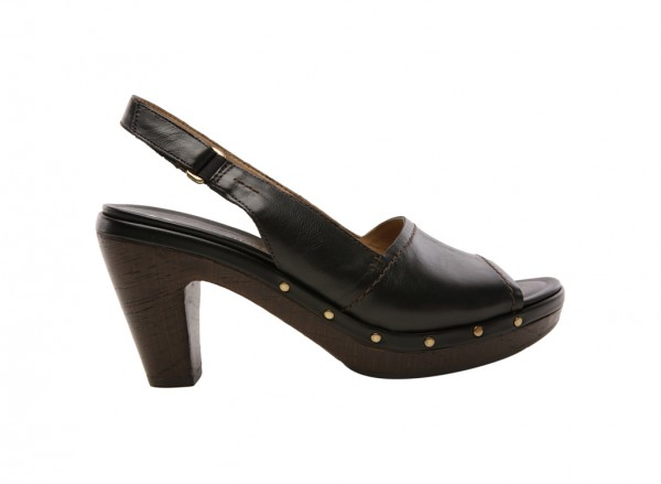 Honey Black Mid Heel