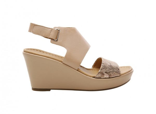 Nenna Taupe Wedges