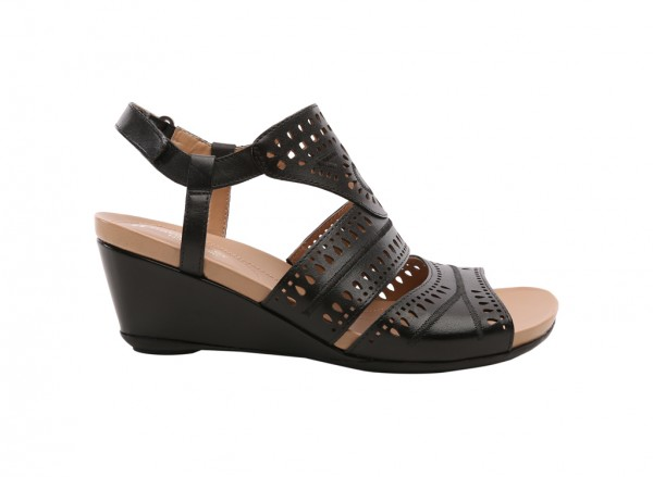 Shaw Black Wedges