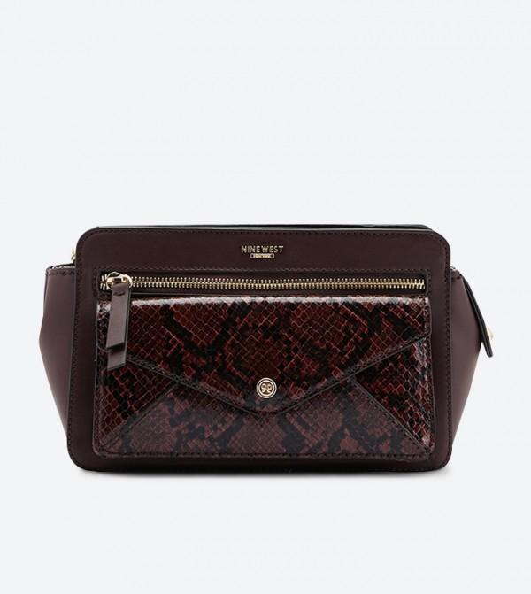 حقيبة أميليا بحمالة كتف طويلة لون بني