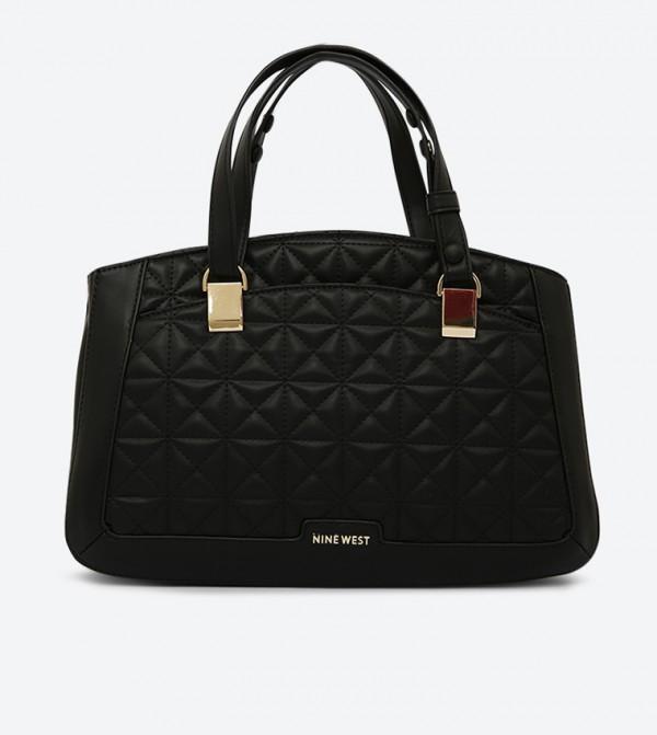 حقيبة يد بدرزات لون أسود