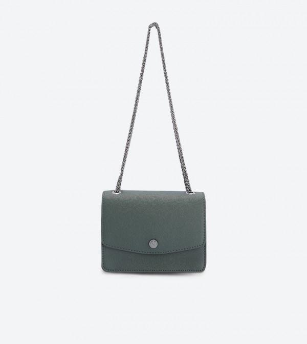حقيبة بيتي بحمالة كتف طويلة لون أخضر