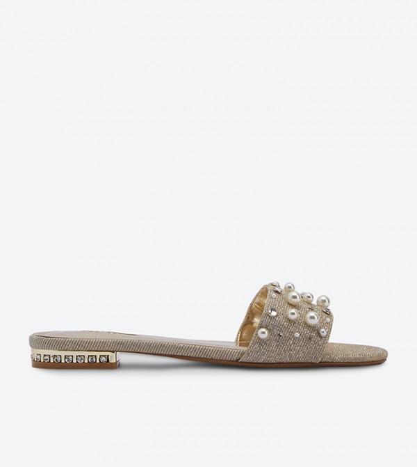 Hobart Pearl Slides - Gold NIANA DI