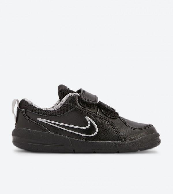 Pico 4 Velcro Strap Round Toe Sneakers - Black