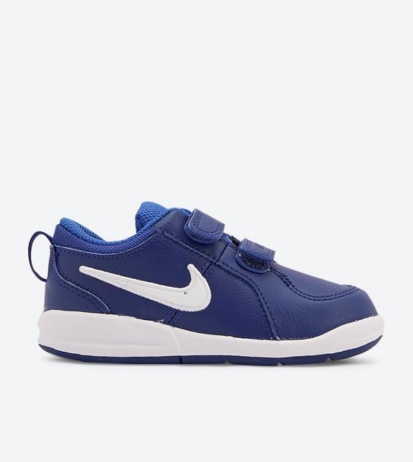 Pico 4 Round Toe Double Velcro Strap Sneakers - Blue