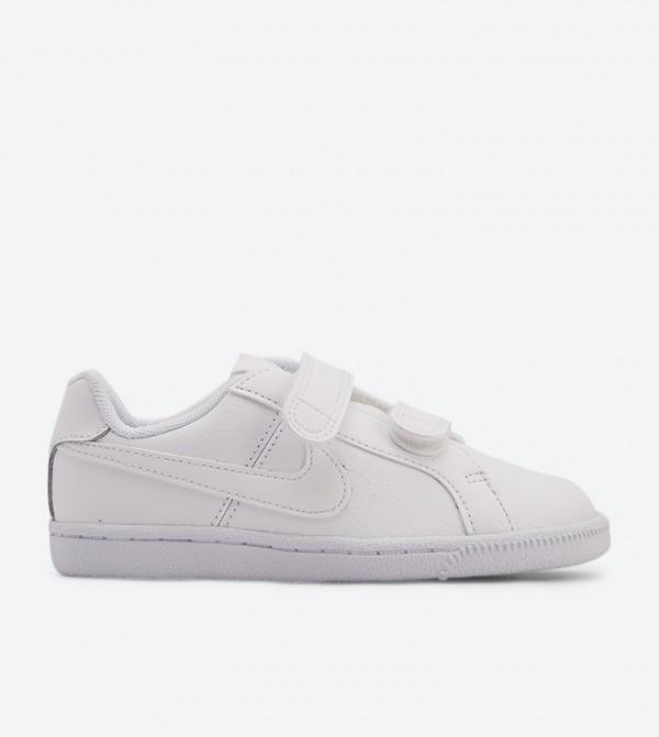 Court Royale Velcro Strap Closure Sneakers - White