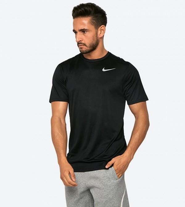 Breath Run Short Sleeve T-Shirt - Black