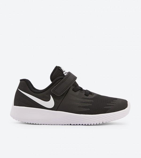 Star Runner Brand Printed Sneakers - Black