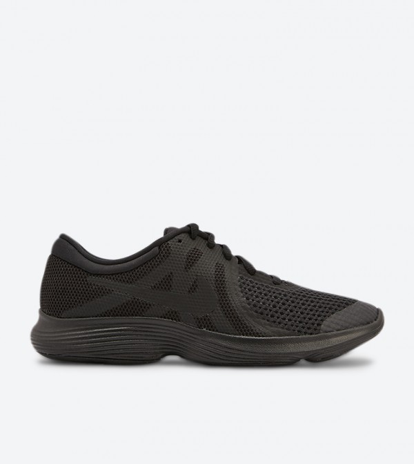 Revolution 4 Gs Lace Up Closure Sneakers - Black