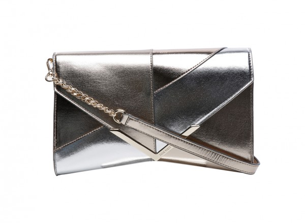 Nine West Collection Clutches Handbag Clutch Md For Women - Man Made Metalic Silver