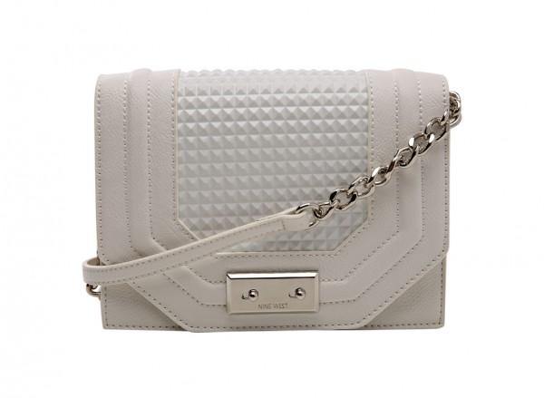 Nine West Internal Affairs Handbag Cross Body Sm For Women - Man Made White