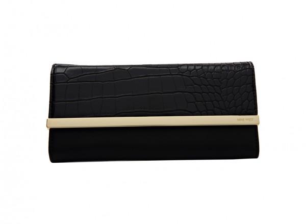 Nine West Divide And Conquer S Handbag Continental Sf For Women - Man Made Black