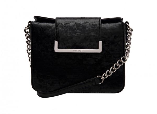 Nine West Strictly Ballroom Handbag Cross Body Md For Women - Man Made Black-NW60414250-BLACK