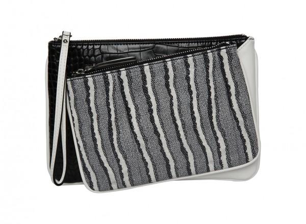 Nine West Table Treasures Handbag Wristlet Deluxe Lc For Women - Man Made Black