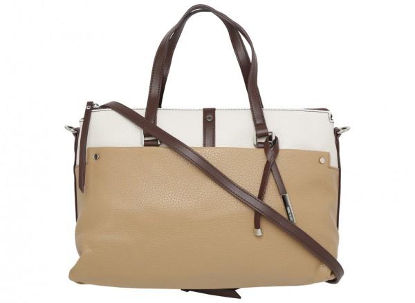 Pockets A Plenty Beige Satchels & Handheld Bags
