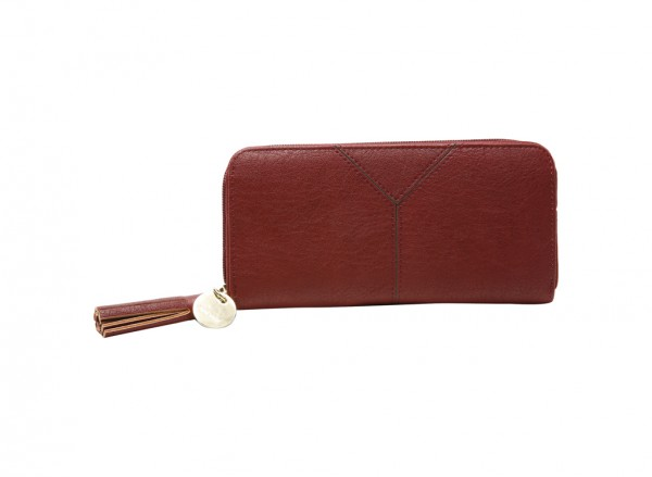 Tasseled And Tied Slgs Maroon Wallet