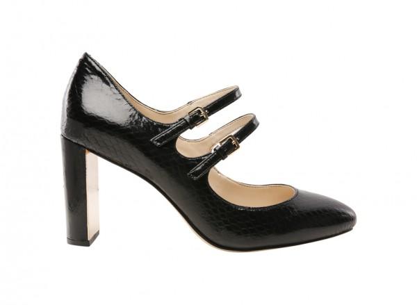 Academy Black Mid Heel
