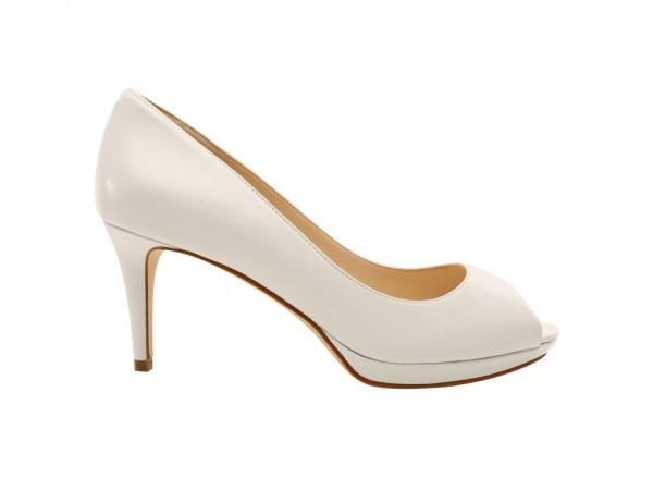 Gelabelle White Mid Heels
