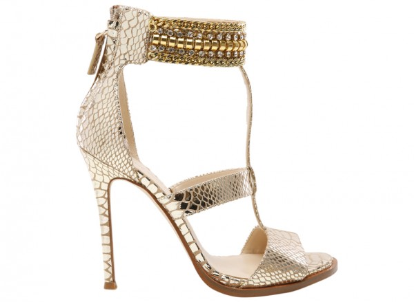 Nwhalonia Gold High Heel