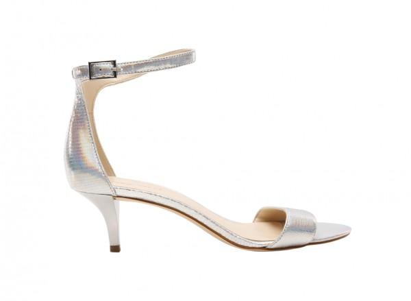 Nwleisa Silver Mid Heel