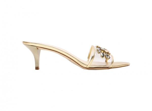 Luvalways Gold Mid Heel