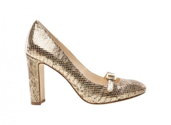 Viyana Gold Mid Heel