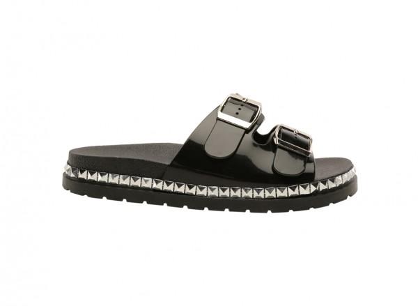 Wonderly Black Mid Heels