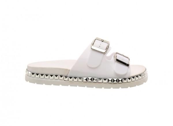 Wonderly White Mid Heels