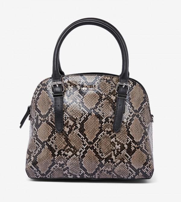 حقيبة يد بنمط جلد الأفعى متعدد الألوان