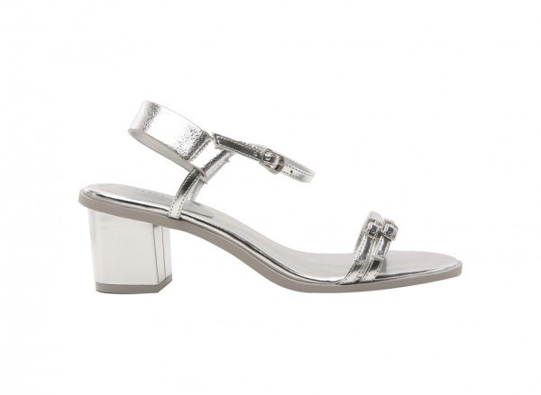 Silver Mid Heel