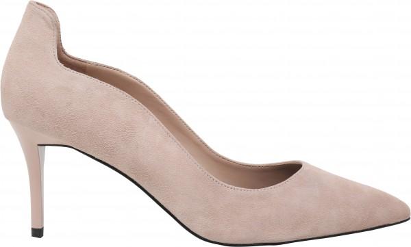 حذاء متوسط الكعب زهري